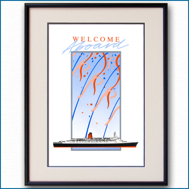 1986年 客船クイーンエリザベス2・ウェルカムカード 2288LL