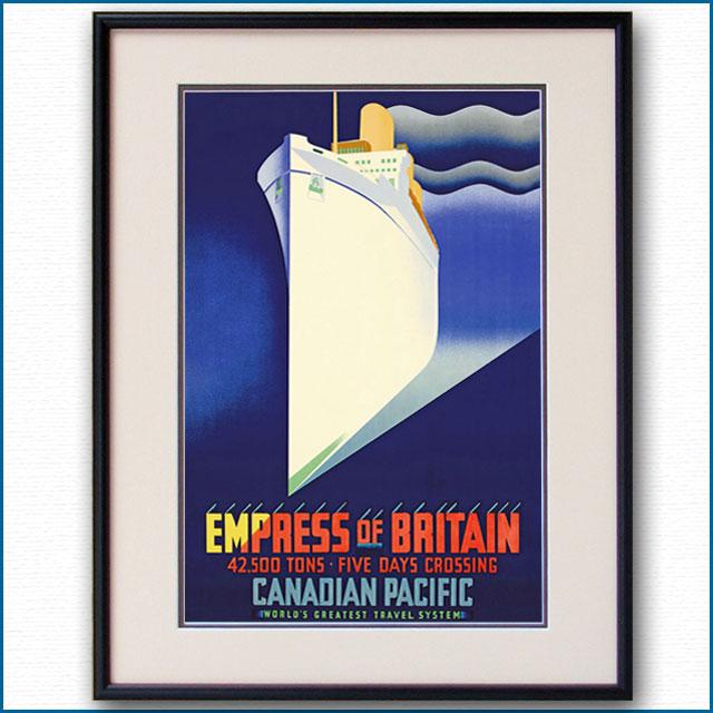 1932年 CPL 客船エンプレス・オブ・ブリテンのポスター 2304LL