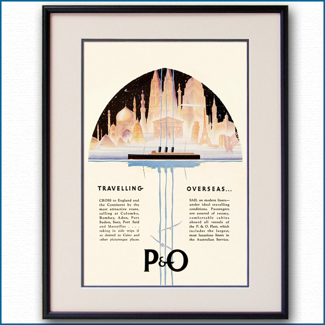 1930年 P&O雑誌広告 2309LL