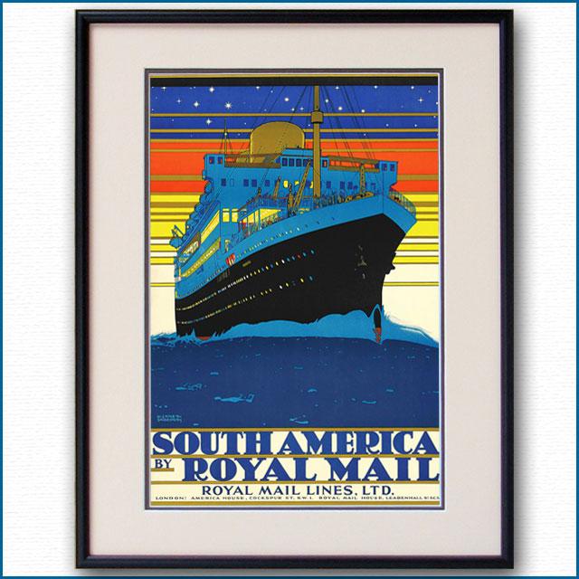 1927年 ロイヤルメールライン 客船アストリアスのポスター 2323LL
