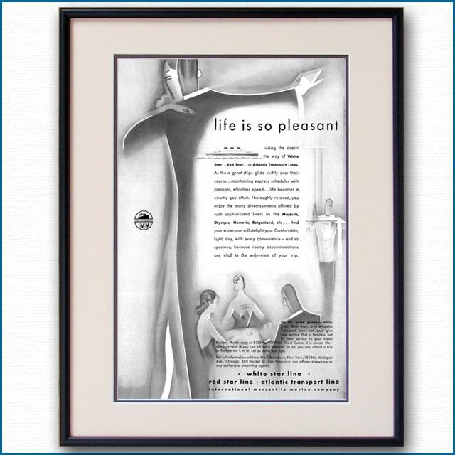 1930年 IMM・ホワイトスターライン・レッドスターライン雑誌広告 2335LL