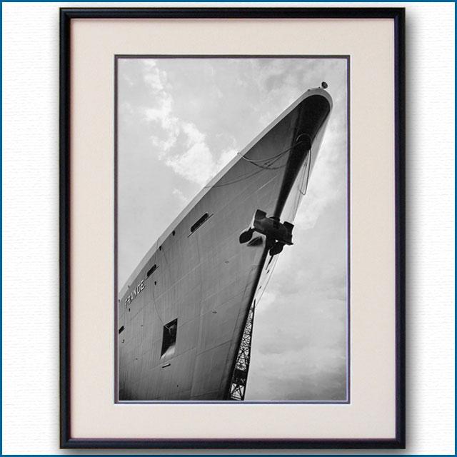 1961年 客船フランス・船首の写真 2486LL