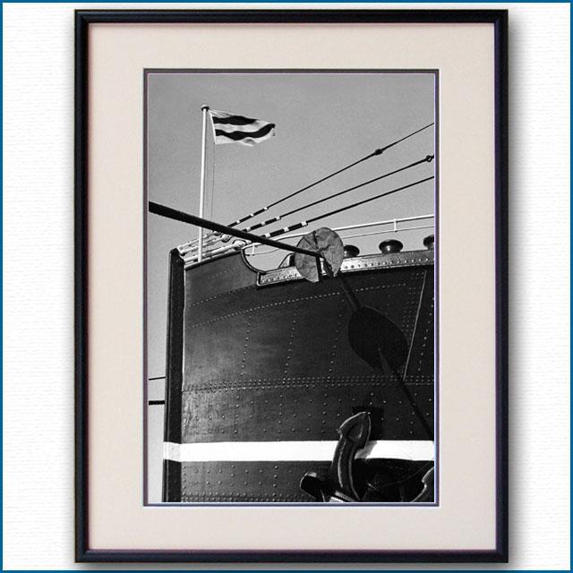 1930年代 日本郵船・龍田丸 船首の写真 2494LL