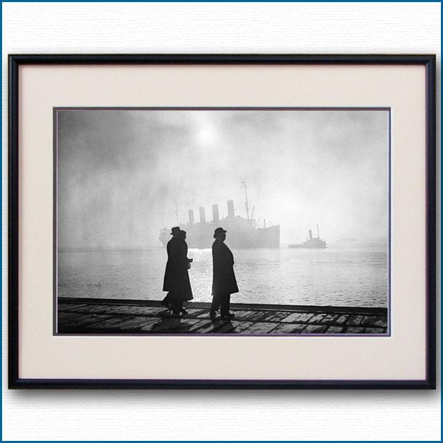1920年頃 客船アキタニア・サウサンプトン入港の写真 2496LL