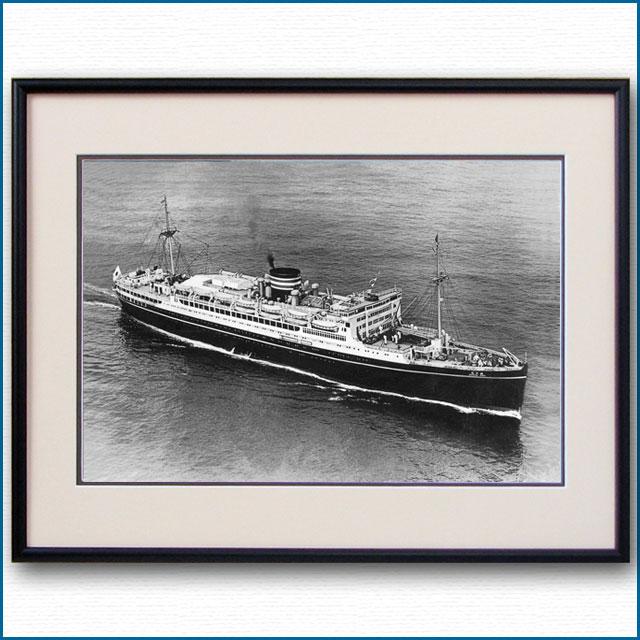 1930年代 日本郵船・秩父丸の空撮写真 2498LL
