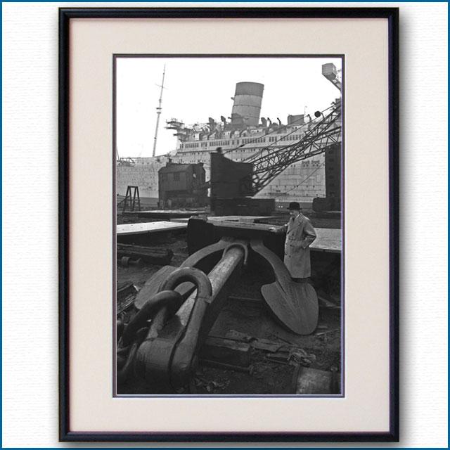 1935年 客船クイーンメリー・16tアンカーの写真 2499LL