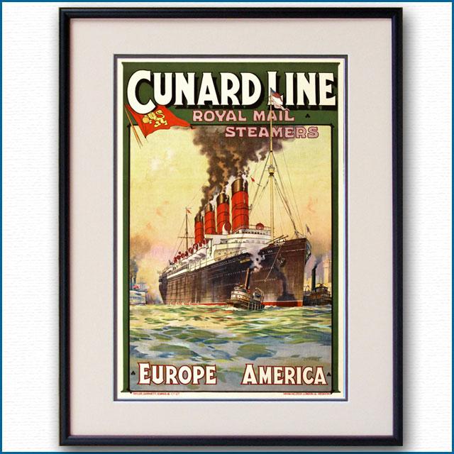 1912年 チャールズ・エドワーズ・ターナー キュナード 客船モーレタニア 2585LL