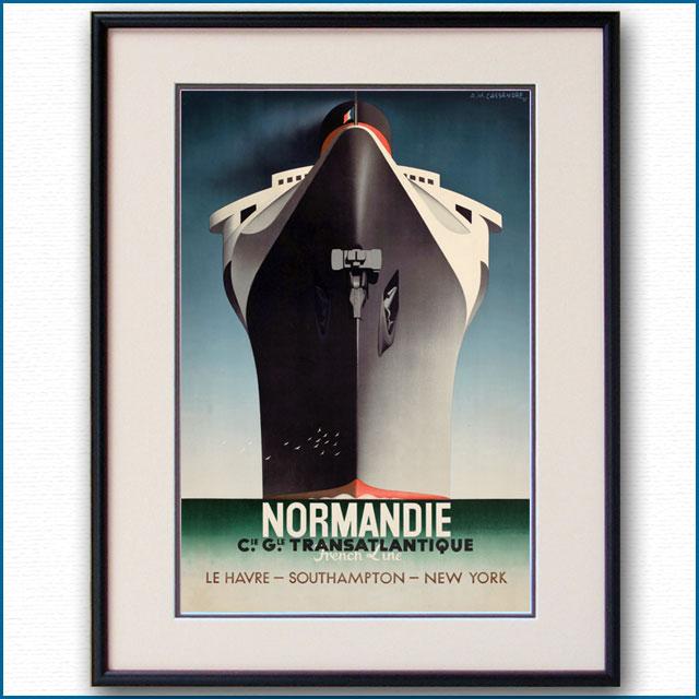 1935年 カッサンドル 客船ノルマンディー コピー無し版 2592LL