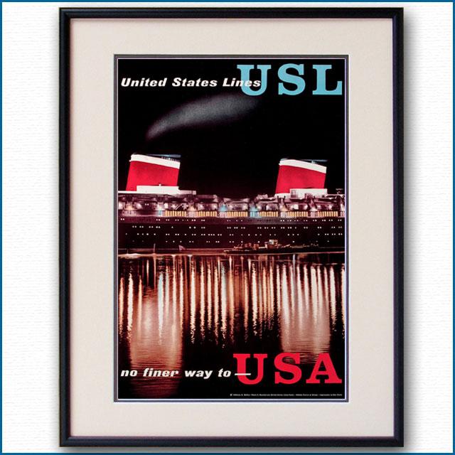 1960年 客船ユナイテッドステーツのポスター 2604LL
