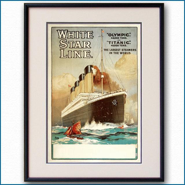 1912年 客船オリンピック タイタニックのポスター 2610LL