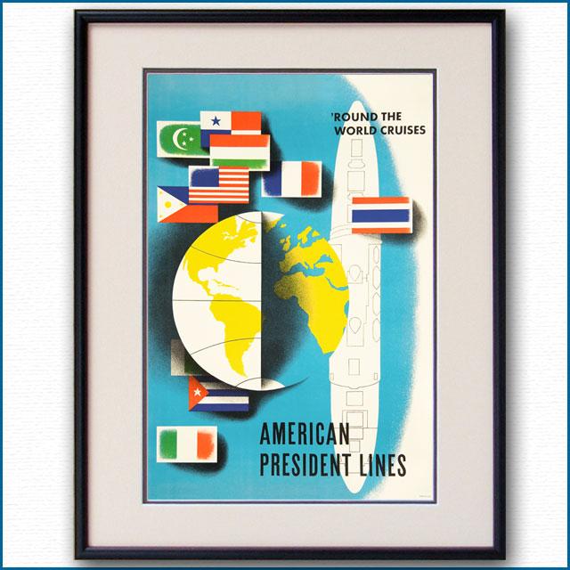 1971年 APL・アメリカンプレジデントラインズのポスター 2612LL