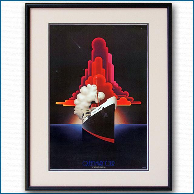 1975年 客船クイーンメリーのポスター 2620LL