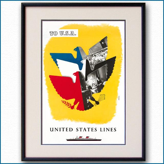 1952年 ユナイテッドステーツラインのポスター 2671LL