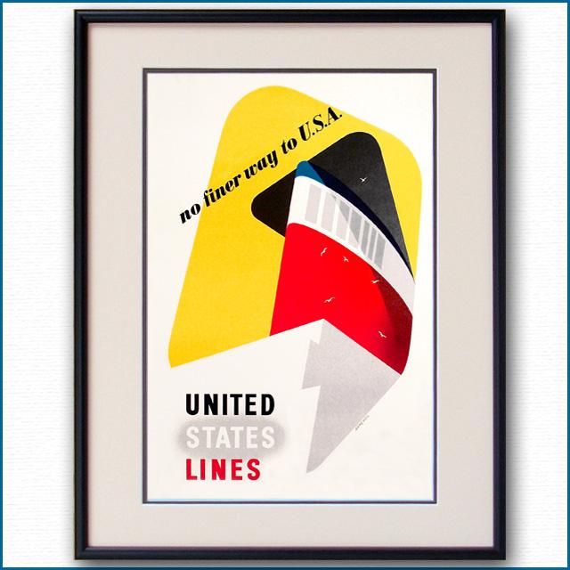 1952年 ユナイテッドステーツラインのポスター 2755LL