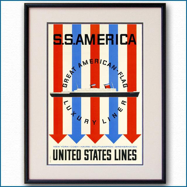 1952年 USL 客船アメリカのポスターのポスター 2756LL