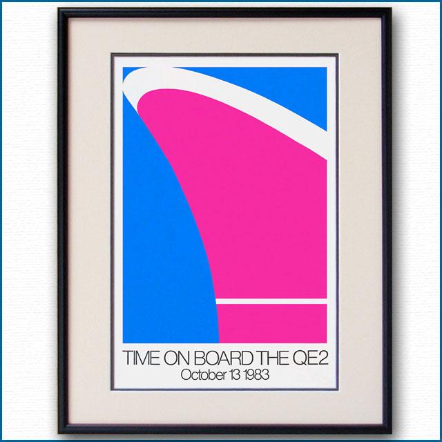1983年 クイーンエリザベス2のポスター 2763LL