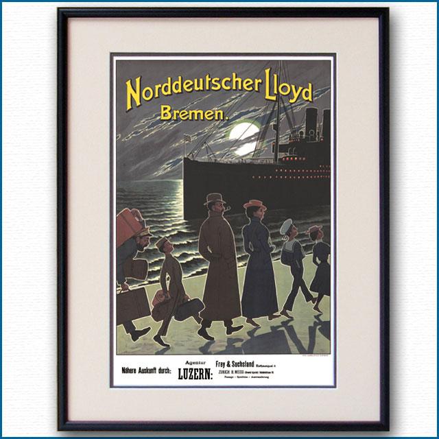 1903年 北ドイツロイドラインのポスター 2806LL