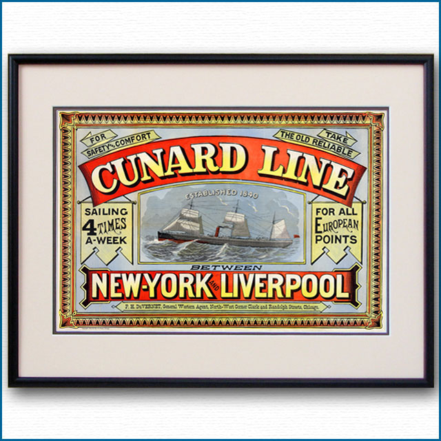 1875年 キュナードラインのポスター 2952LL