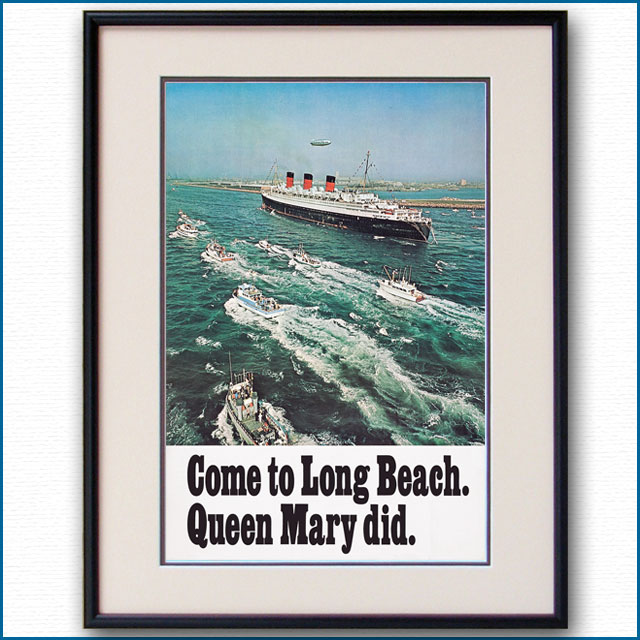 1970年 客船クイーンメリーのポスター 3045LL