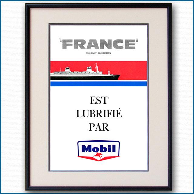1962年 客船フランス・モービル石油雑誌 3113LL