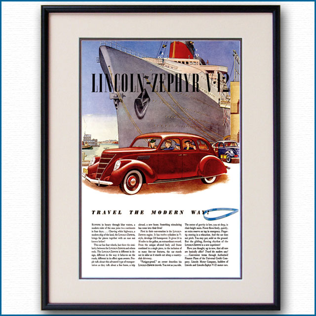 1937年 リンカーン・ゼファーV12雑誌広告 3142LL