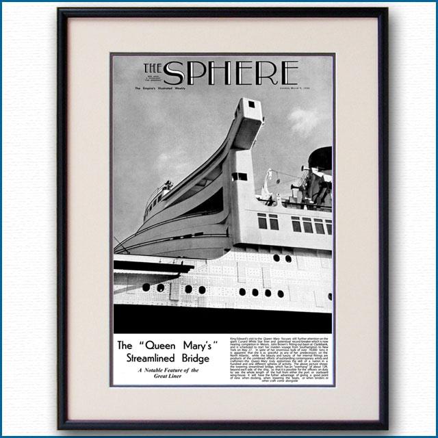 1936年 スフィア紙・客船クイーンメリー 3204LL