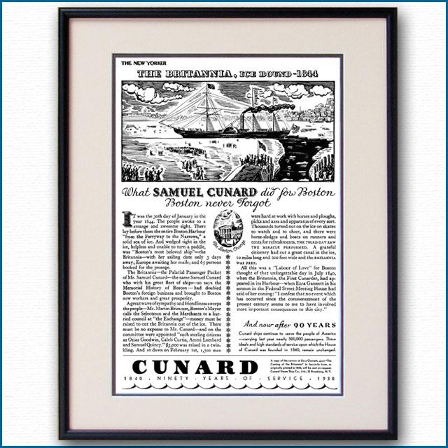 1930年 キュナードライン・客船ブリタニア雑誌広告 3213LL