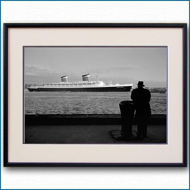1952年 ウィリアム・ギブスと客船ユナイテッドステーツの写真 3218LL