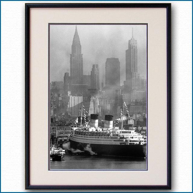 1946年 客船クイーンエリザベス・マンハッタンの写真 3221LL