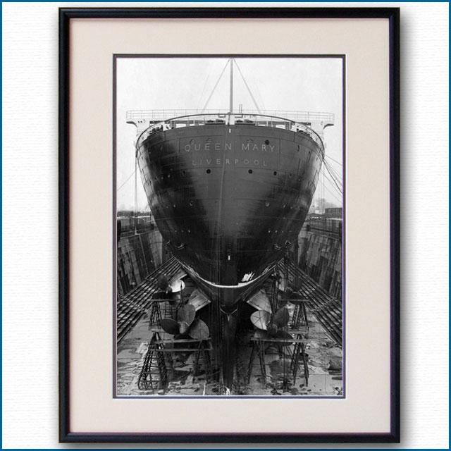 1936年 客船クイーンメリー・スターンの写真 3222LL