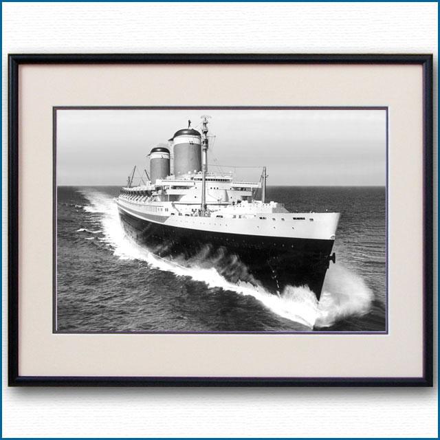 1952年 客船ユナイテッドステーツ・公試運転の写真 3223LL