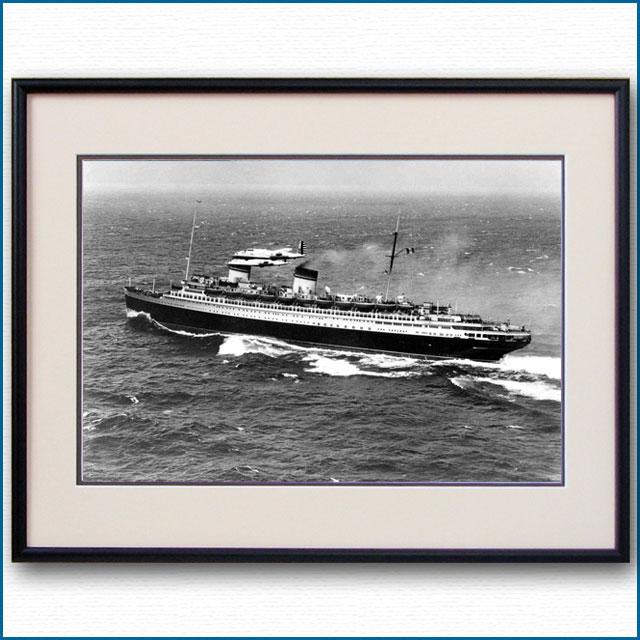 1938年 客船レックスとB-17の写真 3225LL