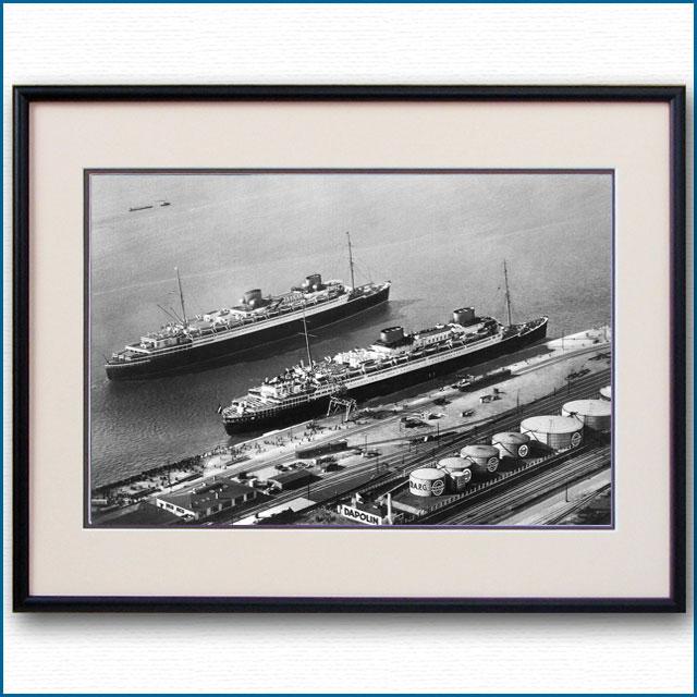 1930年 客船ブレーメンとオイローパの写真 3227LL