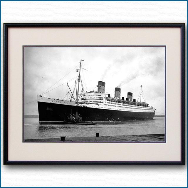1936年 客船クイーンメリー・サウザンプトン出航の写真 3232LL
