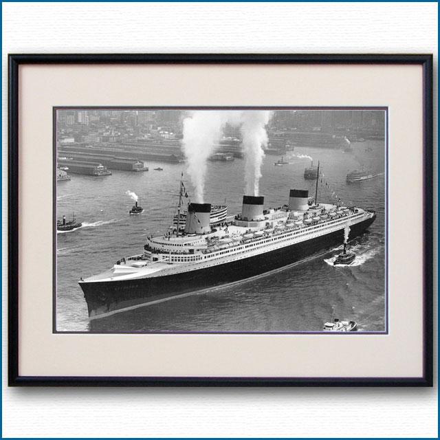 1935年 客船ノルマンディー・ニューヨーク初入港ハドソン川の写真 3233LL