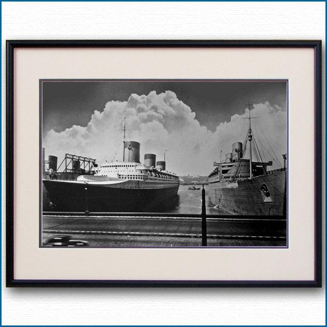 1939年 客船ノルマンディーとクイーンメリーの写真 3235LL