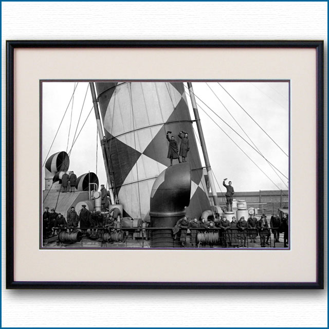 1918年 客船モーレタニア・ダズール迷彩の写真 3238LL