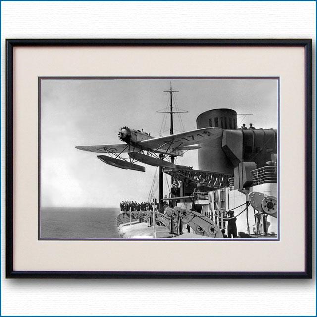 1931年 客船ブレーメン・ハインケル発艦の写真 3240LL