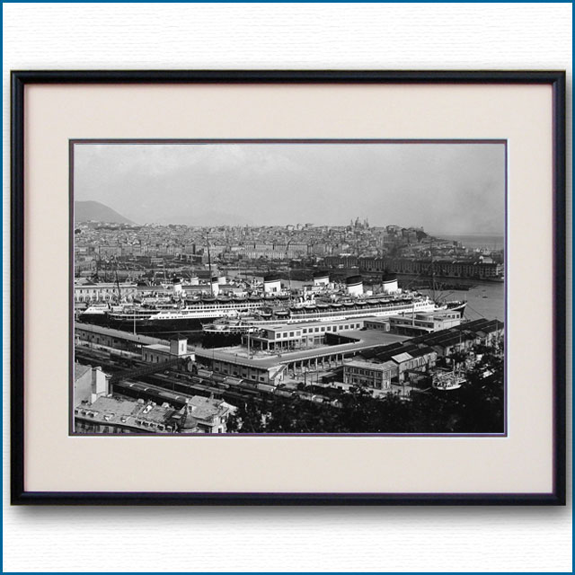 1933年頃 客船レックスとコンテ・ディ・サヴォアの写真 3242LL