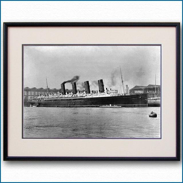 1911年 客船モーレタニアとタービニアの写真 3243LL