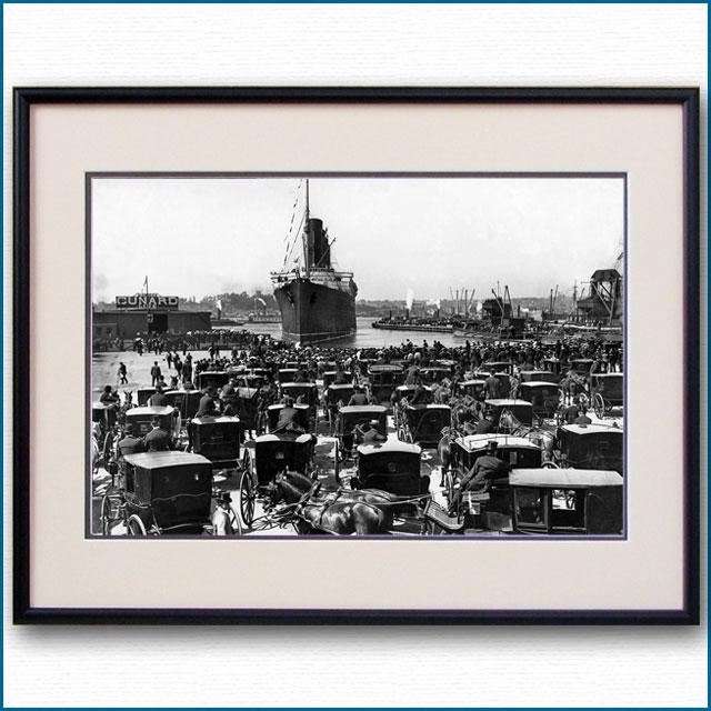1907年 客船ルシタニア・ニューヨーク初入港の写真 3245LL
