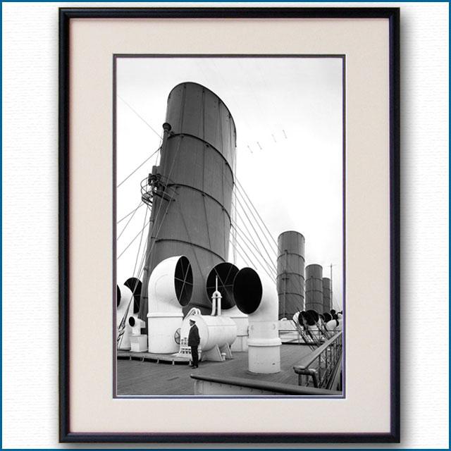 1914年頃 客船アキタニア・アッパーデッキの写真 3246LL