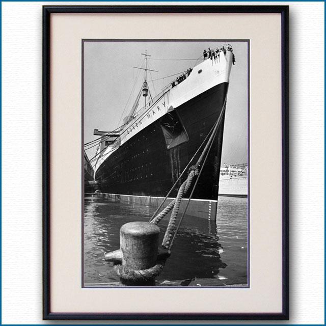 1939年 客船クイーンメリー・90番埠頭の写真 3247LL