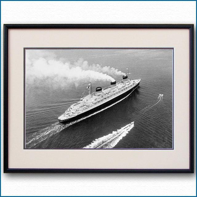 1935年頃 客船ノルマンディーの空撮写真 3249LL
