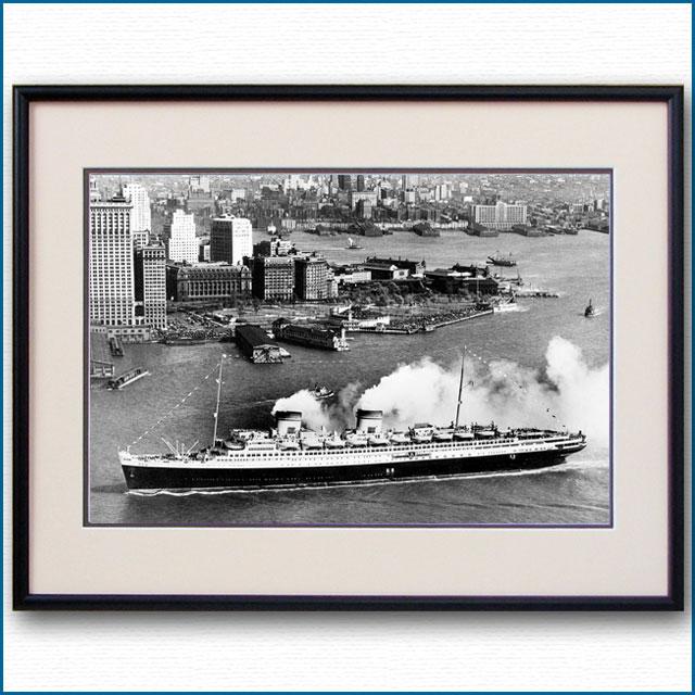 1932年 客船レックス・ニューヨーク初入港の写真 3250LL