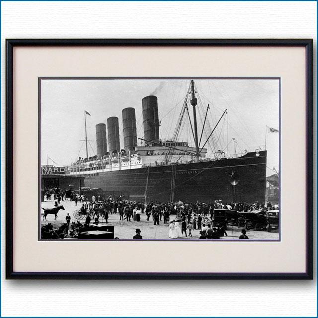 1907年 客船ルシタニア・ニューヨーク初停泊の写真 3252LL