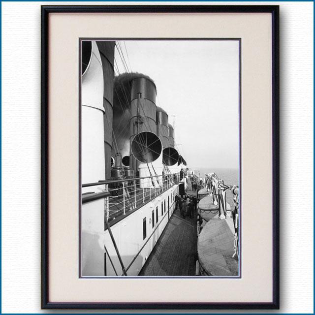 1910年頃 客船モーレタニア・アッパーデッキの写真 3253LL