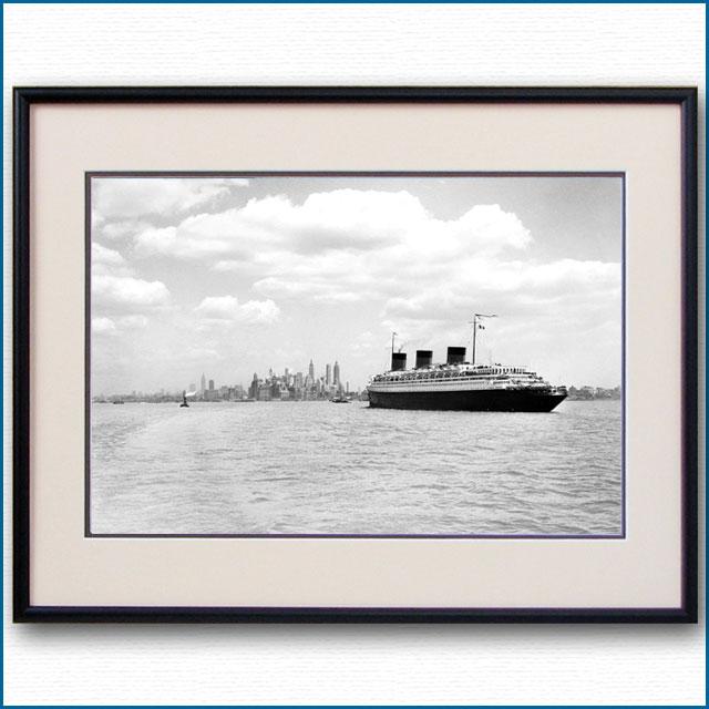 1937年 客船ノルマンディー・ニューヨーク入港の写真 3254LL