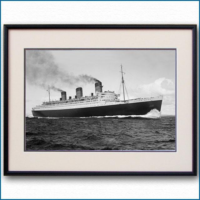 1936年 客船クイーンメリー・公試運転の写真 3259LL
