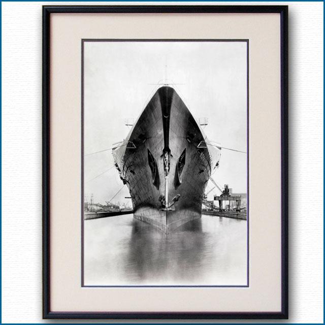 1934年 客船ノルマンディー・船首の写真 3261LL